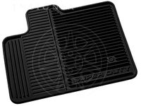 Ford Floor Mats - All Weather, Black, 3-Piece Set, w/Ford Oval Logo, For Crew Cab - 8C3Z-2613300-A