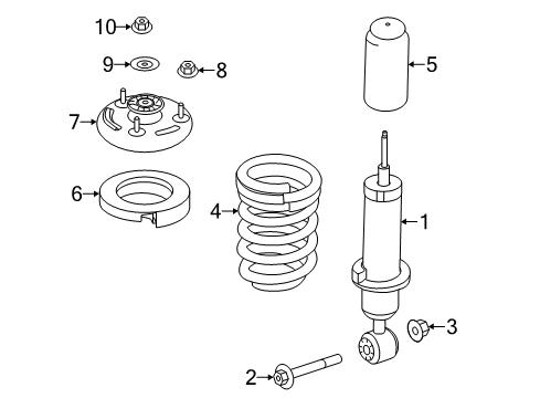 2014 Ford Expedition EL Limited 8 Cyl 5.4 L FLEX SHOCKS & COMPONENTS - Diagram 1