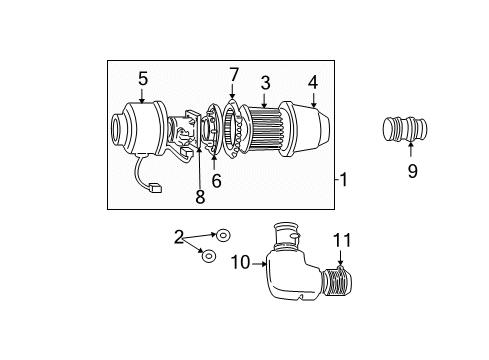 1 9 sefi engine diagram 1997 ford f 150 air intake parts listing ford parts prime  1997 ford f 150 air intake parts