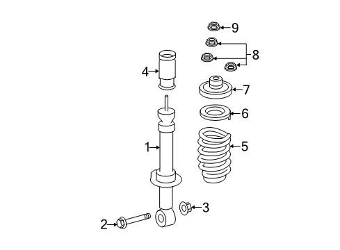 2012 Ford Expedition EL Limited 8 Cyl 5.4 L FLEX SHOCKS & COMPONENTS - Diagram 2