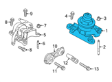 Ford Motor And Transmission Mount - FB5Z-6038-A and Related Parts