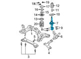 Ford Shock Absorber - 8L8Z-18124-AL and Related Parts