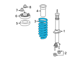 Ford Coil Springs - FL3Z-5310-K and Related Parts