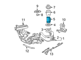 Ford Shock Absorber - 3R3Z-18124-AB and Related Parts