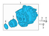 Ford Alternator - GR3Z-10346-K and Related Parts
