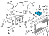 Ford Coolant Reservoir - CV6Z-8A080-A and Related Parts