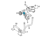 Ford Power Steering Pump - F77Z-3A674-EBRM and Related Parts