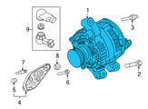 Ford Alternator - DG1Z-10346-D and Related Parts