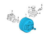 Ford Brake Booster - YL8Z-2005-AA and Related Parts