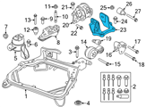 Ford Motor And Transmission Mount - 6E5Z-6031-HA and Related Parts