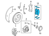 Ford Brake Pads - 8L2Z-2V001-A and Related Parts