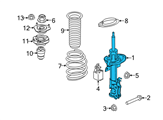 Ford Shock Absorber - D2BZ-18124-B and Related Parts