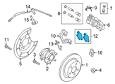 Ford Brake Pads - CV6Z-2200-A and Related Parts