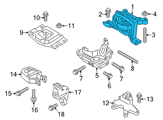 Ford Motor And Transmission Mount - CV6Z-6038-B and Related Parts