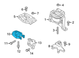 Ford Motor And Transmission Mount - CV6Z-6068-A and Related Parts