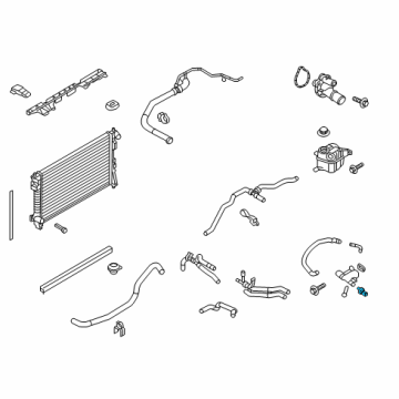 2015 Ford Taurus Radiator & Components