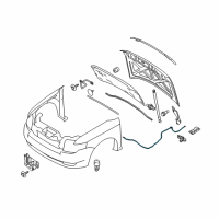 Ford Flex Hood Cable - 8A8Z-16916-A and Related Parts