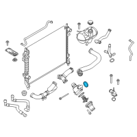 Ford Thermostat Gasket - 7T4Z-8590-A and Related Parts