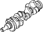 Ford E-150 Econoline Club Wagon Crankshaft - E3TZ-6V303-CRM