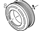 Lincoln A/C Idler Pulley - 1L2Z-19D784-AA