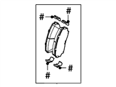 Lincoln MKX Brake Pads - 7T4Z-2001-A