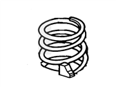 Lincoln Town Car Coil Springs - F4AZ-5310-C