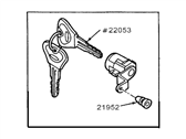 Ford Escort Ignition Lock Assembly - F7CZ-5422050-AA