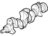 Ford E-150 Econoline Club Wagon Crankshaft - E3AZ-6303-B
