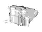 Lincoln Coolant Reservoir - DG9Z-8A080-A
