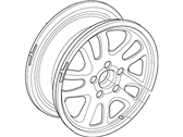 Ford Crown Victoria Spare Wheel - YW7Z-1007-AA