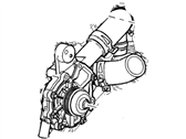 Ford Water Pump - 2S7Z-8501-BG