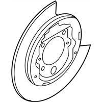 Ford 4L3Z-2C028-AA Shield - Brake Disc Splash