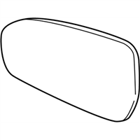Ford DS7Z-17K707-C Glass Assembly - Rear View Outer Mirror